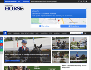 everythinghorseuk.co.uk screenshot