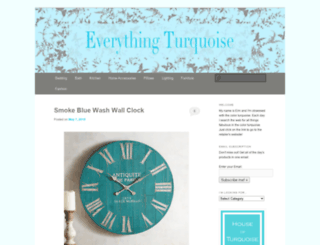 everythingturquoise.com screenshot