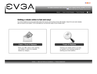evga.4myrebate.com screenshot
