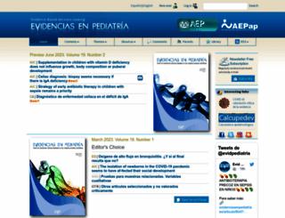 evidenciasenpediatria.es screenshot