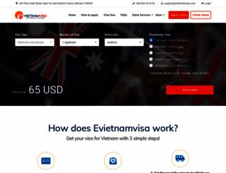 evietnamvisa.com screenshot