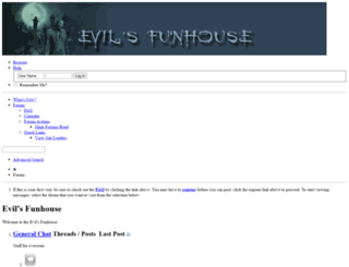evilsfunhouse.com screenshot