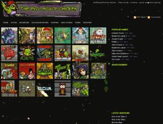evilspacechicken.com screenshot
