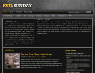 evilsunday.com screenshot