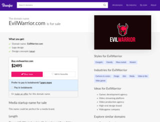 evilwarrior.com screenshot