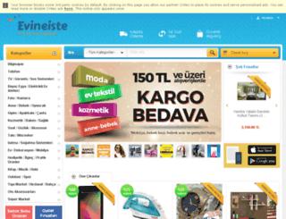 evineiste.incir.com screenshot