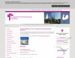 evkirche-amstetten.de screenshot