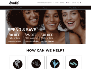 evolisproducts.com.au screenshot
