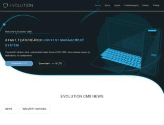 evolution-cms.com screenshot