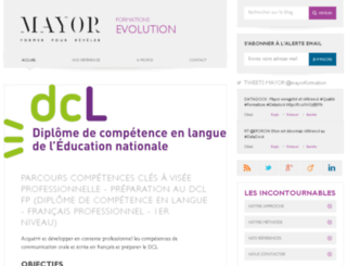 evolution.mayor-formation.com screenshot