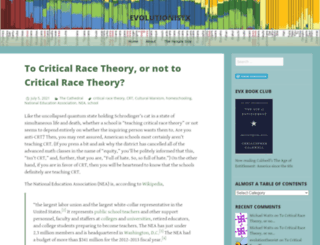 evolutionistx.wordpress.com screenshot