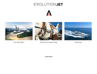evolutionjet.aero screenshot