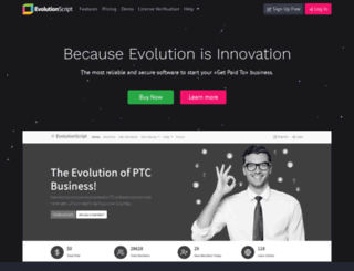 evolutionscript.com screenshot