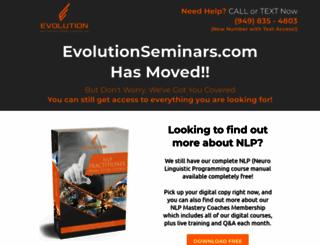evolutionseminars.com screenshot