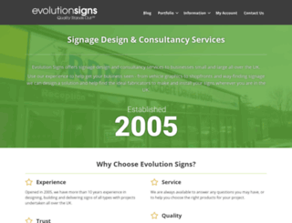 evolutionsigns.co.uk screenshot