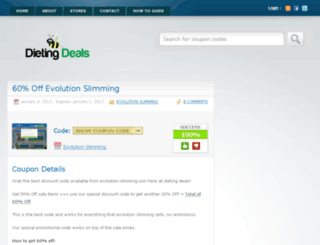 evolutionslimmingdiscountcode.co.uk screenshot