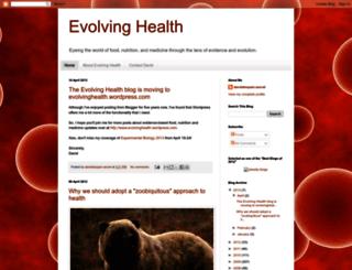 evolvinghealthscience.blogspot.com screenshot
