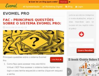 evomelpro.com.br screenshot