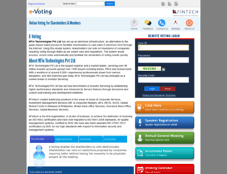 evoting.karvy.com screenshot
