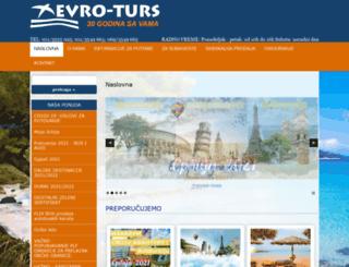 evro-turs.rs screenshot