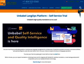 evs-translations.com screenshot