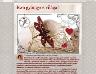 ewagyongyosvilaga.blogspot.cz screenshot