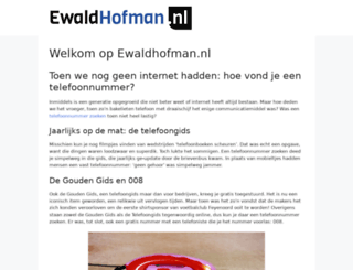 ewaldhofman.nl screenshot