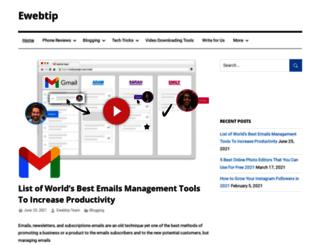 ewebtip.com screenshot