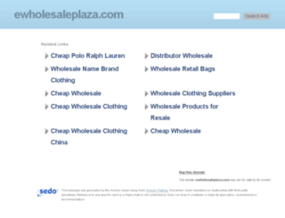 ewholesaleplaza.com screenshot