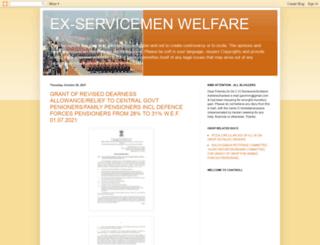 ex-servicemenwelfare.blogspot.in screenshot
