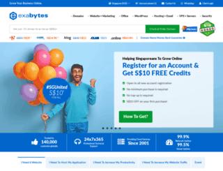 exabytes.com.sg screenshot