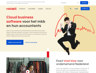 exact.nl screenshot
