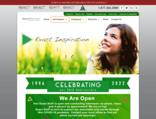 exactstaff.com screenshot