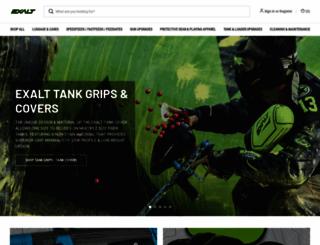 exaltpaintball.com screenshot
