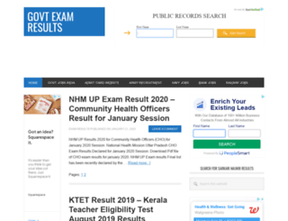exam-results.20govt.com screenshot