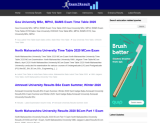 exam2result.com screenshot