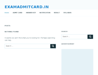 examadmitcard.in screenshot