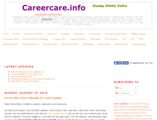 examalert.careercare.info screenshot