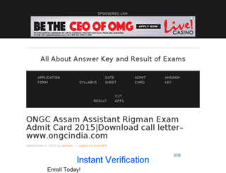 examanswerkeyresult2015.in screenshot