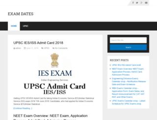 examdates.net screenshot