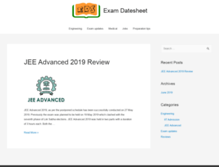 examdatesheet.co.in screenshot