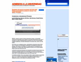 examendeadmision.blogspot.com screenshot