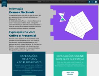 examesnacionais.com.pt screenshot
