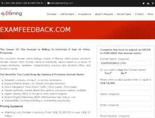 examfeedback.com screenshot