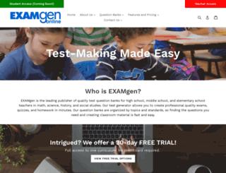 examgenonline.com screenshot