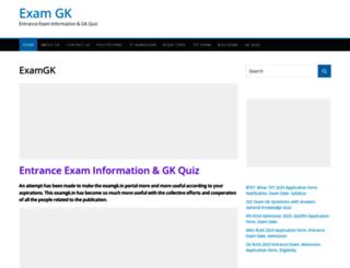examgk.in screenshot
