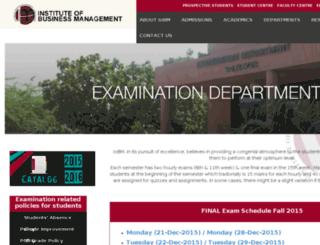 examination.iobm.co screenshot