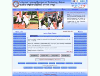 examination.mnit.ac.in screenshot