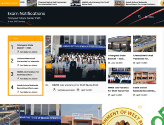 examnotifications.com screenshot