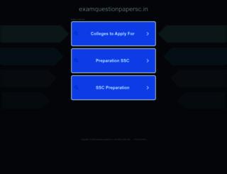 examquestionpapersc.in screenshot